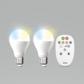 iDual White peer E27 806 lumen 2 stuks incl. afstandsbediening