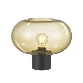 KARWEI tafellamp Odin bruin glas