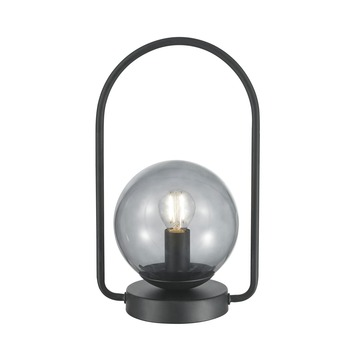 KARWEI tafellamp Lorin zwart rookglas