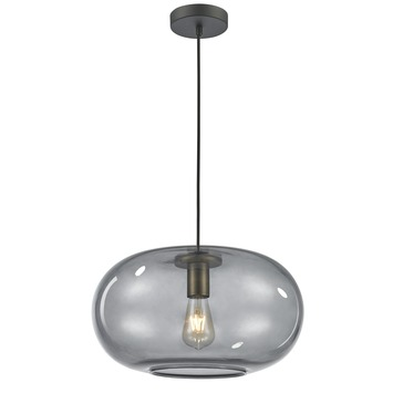 KARWEI hanglamp odin messing rookglas