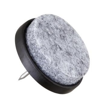 HANDSON meubelglijder viltglijder met nagel Ø30 mm bruin 12 stuks