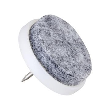 HANDSON meubelglijder viltglijder met nagel Ø20 mm grijs 24 stuks