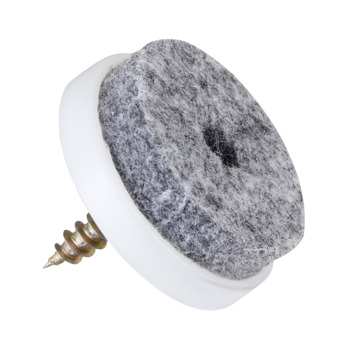 HANDSON meubelglijder viltglijder met schroef grijs Ø28 mm 12 stuks