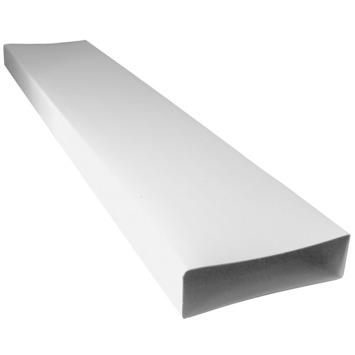 Sanivesk vlakkanaal PVC luchtbuis wit 110x55 mm 100 cm