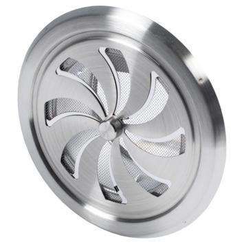 Sanivesk afsluitbaar schuifrooster RVS Ø 125 mm