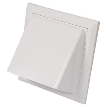 Sanivesk overdrukrooster met kap ABS wit Ø 150-160 mm