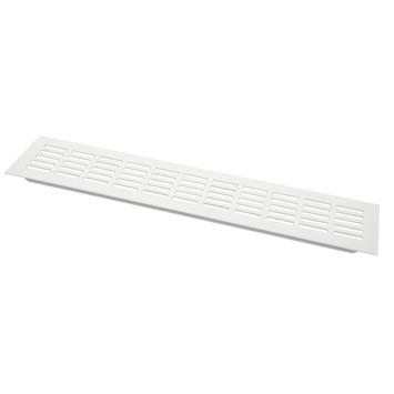 Sanivesk ventilatiestrip aluminium wit 40x8 cm