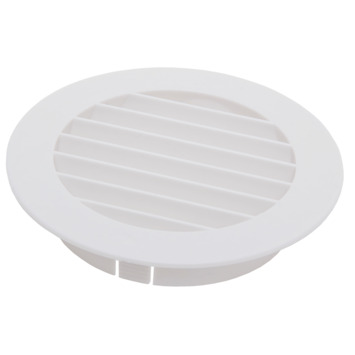Sanivesk luchtrooster kunststof rond wit Ø 100 mm