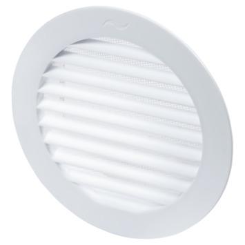 Sanivesk luchtrooster kunststof rond wit Ø 125 mm