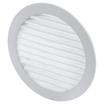 Sanivesk luchtrooster kunststof rond wit Ø 150 mm