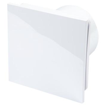 Sanivesk inbouwventilator Design vierkant met vochtsensor wit Ø 100 mm