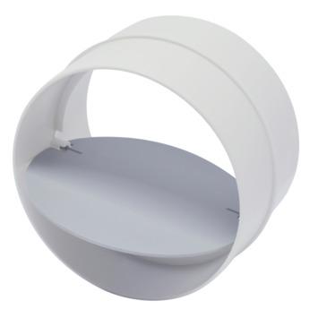 Sanivesk buisverbinder met terugslagklep wit Ø125 mm