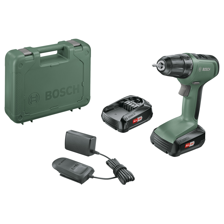 Bosch accu boormachine UniversalDrill 18 in koffer + 2 18V accu's