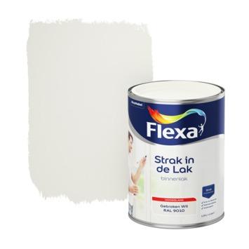 Flexa Strak in de lak voor binnen ral 9010 gebroken wit hoogglans 1,25 liter