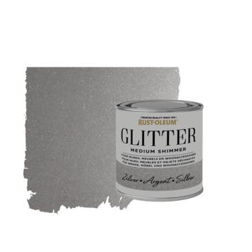 Rust-Oleum glitterverf medium shimmer silver 250 ml