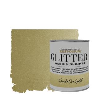 Rust-Oleum glitterverf medium shimmer gold 750 ml