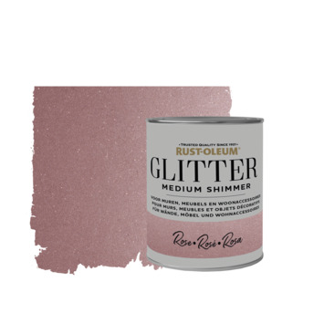 Rust-Oleum glitterverf medium shimmer rose 750 ml