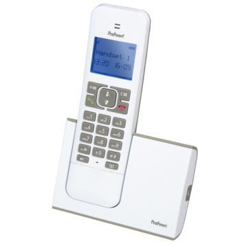 DECT telefoon single wit/taupe