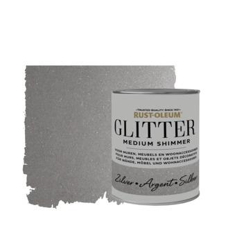 Rust-Oleum glitterverf medium shimmer silver 750 ml