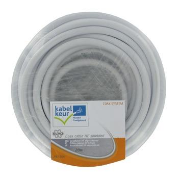 ELRO coax kabel afgeschermd AN720K wit 20 m
