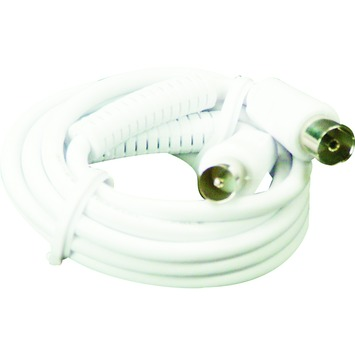 ELRO coax aansluitsnoer AN505S wit 5 m