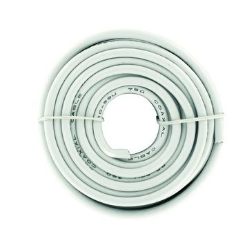ELRO coax kabel afgeschermd AN710S wit 10 m