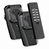 KlikAanKlikUit afstandsbediening en 2 stekkerdoos schakelaars (buiten) AGD2-3500R