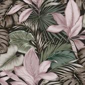 Vliesbehang indra groen/roze (dessin 106742)