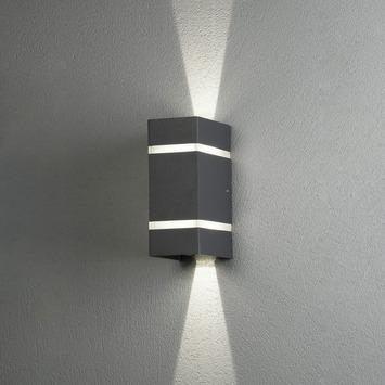 Konstsmide buitenlamp Cremona 2-lichts verstelbaar antraciet