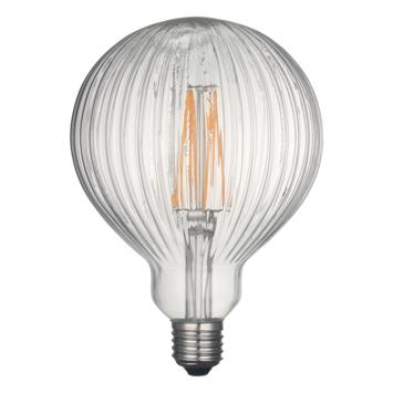 KARWEI LED-filament globe 125mm helder bewerkt glas