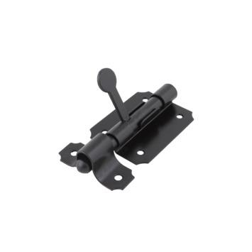 Plaatgrendel Zwart 65 mm