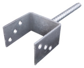 Pergoladrager U Verzinkt 91x100 mm