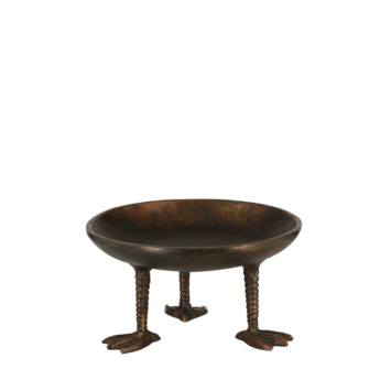 Bord op voet antiek 16 x 8,5 cm