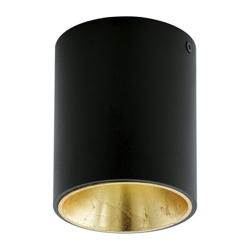 Eglo plafondlamp Polasso zwart/goud
