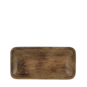 Tray rechthoek mangohout 25 x 13 cm