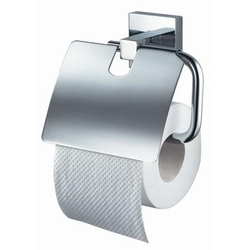 Haceka Mezzo toiletrolhouder met klep chroom
