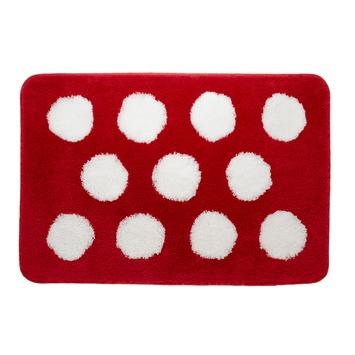 Sealskin Polka badmat rood 60 x 90 cm
