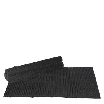 Placemat zwart 4 stuks  45 x 33 cm