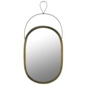 Spiegel Nanne ovaal bruin 48 x 23 cm