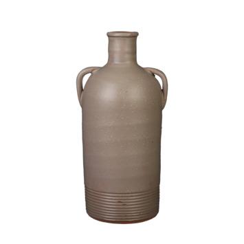 Vaas rond grijs 34 x 14,5 cm