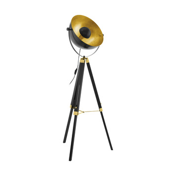 Eglo vloerlamp Covaleda zwart-goud