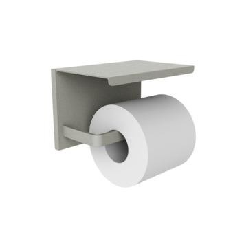 Allibert Loft Game toiletrolhouder railbevestiging met plateau Grijs