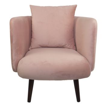 Fauteuil Jola fluweel roze