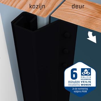 SecuStrip Plus Anti-Inbraakstrip Achterdeur RAL 9005 (Zwart) terugligging 7-13 mm 230 cm