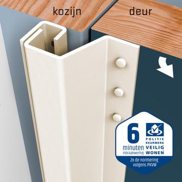 SecuStrip Plus Anti-Inbraakstrip Achterdeur RAL 9001 (Crème) terugligging 7-13 mm 230 cm