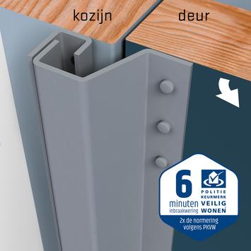 SecuStrip Plus Anti-Inbraakstrip Achterdeur RAL 7040 (Licht Grijs) terugligging 7-13 mm 230 cm