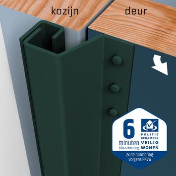 SecuStrip Plus Anti-Inbraakstrip Achterdeur RAL 6012 (Zwart Groen) terugligging 7-13 mm 230 cm