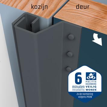 SecuStrip Plus Anti-Inbraakstrip Achterdeur RAL 7012 (Basalt Grijs) terugligging 0-6 mm 230 cm