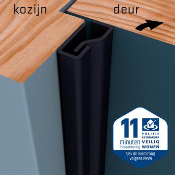 SecuStrip Plus Anti-Inbraakstrip Voordeur  RAL 9005 (Zwart) 230 cm
