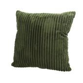 Kussen flanel streep 45x45 groen